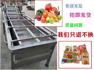 蔬菜水果深加工清洗风干流水线