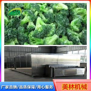 美林3000kg蔬菜丁藕丁流态化速冻机