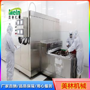 美林1000kg裹糠食品双螺旋速冻机蔬菜饼螺旋速冻机