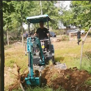 曲阜园林工程挖土小钩机_多功能小型挖沟平土机ljy7