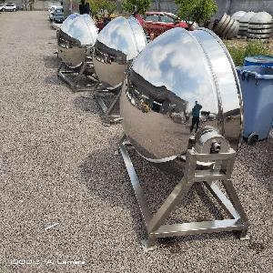 不銹鋼可傾斜香菇肉醬炒醬用夾層鍋 全自動快速立式夾層鍋