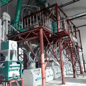 泰兴加工小麦生产面粉的成套机组,磨面粉的小型机器