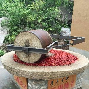 厂家直销定做电动石碾 砂岩碾米机